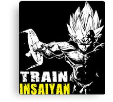 TRAIN INSAIYAN (VEGETA HARDCORE SQUAT - LEG DAY) Canvas Print