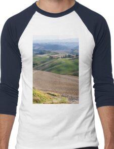 hilly landscape Men's Baseball ¾ T-Shirt