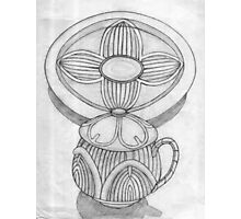 Tea Set for One (Old Sketch) Photographic Print