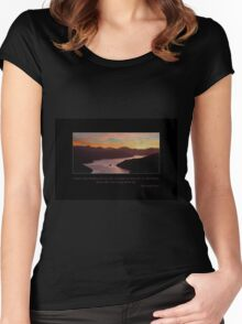 Sunset Sky Women's Fitted Scoop T-Shirt