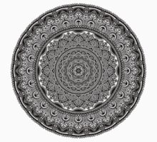Black and White Mandala One Piece - Short Sleeve