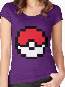 8 bit Pokeball Women's Fitted Scoop T-Shirt