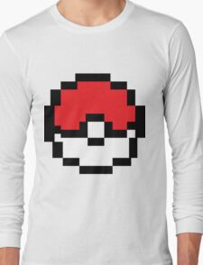 8 bit Pokeball Long Sleeve T-Shirt