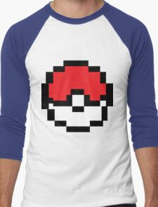 8 bit Pokeball Men's Baseball ¾ T-Shirt
