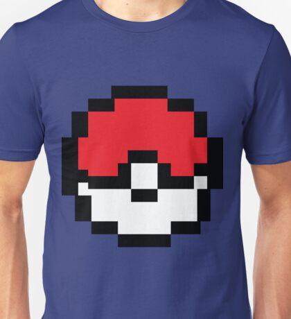 8 bit Pokeball Unisex T-Shirt