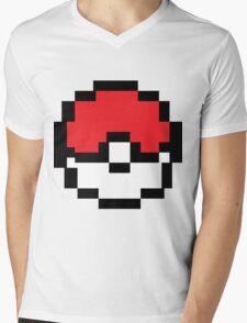 8 bit Pokeball Mens V-Neck T-Shirt