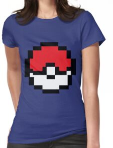 8 bit Pokeball Womens Fitted T-Shirt