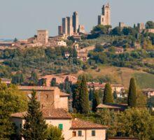 Hill town of of San Gimignano, Tuscany, Italy Sticker