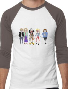 Psychoville characters inspired design Men's Baseball ¾ T-Shirt