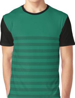 Retro Inspired Striped Lush Meadow Fall 2016 Graphic T-Shirt