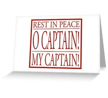 Rest In Peace Robin Williams - Dead Poet Society Greeting Card