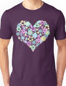 Flowers from the Heart (pastel) Unisex T-Shirt