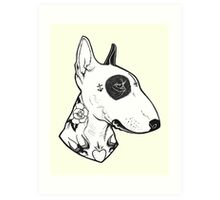 Tattooed Bullterrier Art Print