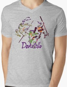 3 X Donatello Mens V-Neck T-Shirt