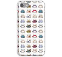 Vintage Teacups Repeat Pattern iPhone Case/Skin