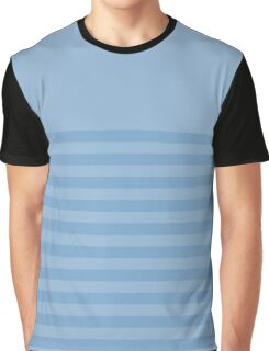 Retro Inspired Striped Airy Blue Fall 2016 Graphic T-Shirt