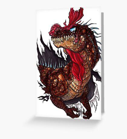 Cryolophosaurus Rampage Greeting Card