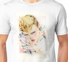 Eighties Fashion Illustration by Anne Zielinski-Old Unisex T-Shirt