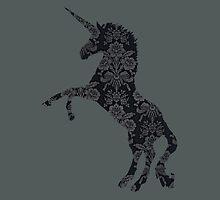 Charcoal Unicorn by Mivaldi