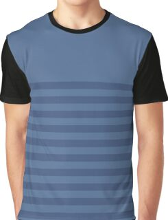 Retro Inspired Striped Snorkel Blue Fall 2016 Graphic T-Shirt