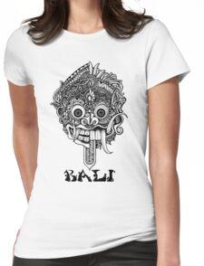 Barong Bali Art Black Womens Fitted T-Shirt
