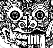 Barong Bali Art Black Sticker