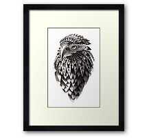 Ornate Tribal Shaman Eagle Print Framed Print