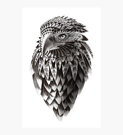 Ornate Tribal Shaman Eagle Print Photographic Print
