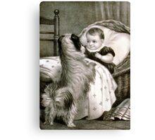 Good morning! little favorite - 1880 Canvas Print