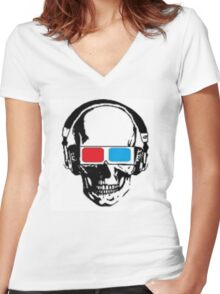 uncommon Interests logo 2 Women's Fitted V-Neck T-Shirt