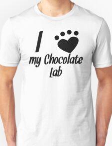 I Heart My Chocolate Lab T-Shirt
