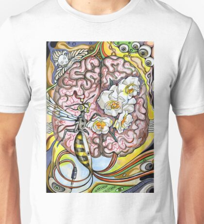 The human brain and a wasp. Unisex T-Shirt