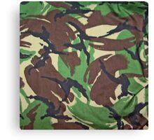 Camouflage, British, Army,  Disruptive Pattern Material, Canvas Print