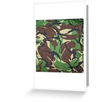 Camouflage, British, Army,  Disruptive Pattern Material, Greeting Card
