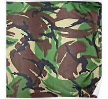 Camouflage, British, Army,  Disruptive Pattern Material, Poster