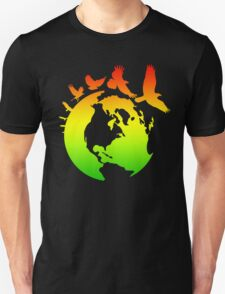 Mother Earth Birds (rasta colors) T-Shirt
