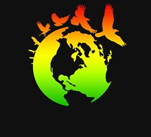 Mother Earth Birds (rasta colors) Unisex T-Shirt
