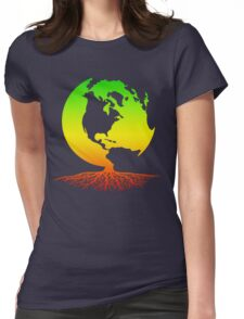 Mother Earth Roots Womens Fitted T-Shirt