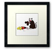 Banksy_rat Framed Print