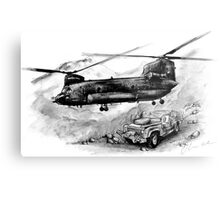 Chinook Helicopter Metal Print