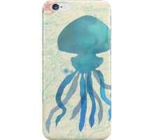 Jellyfish Nautical Map iPhone Case/Skin