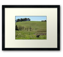 Blue Going To Work Framed Print