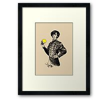 Not Sure if the Lemon is in Play?! Framed Print