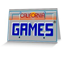 CALIFORNIA GAMES - SEGA MASTER SYSTEM Greeting Card