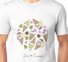 cartoon ice cream cones  Unisex T-Shirt