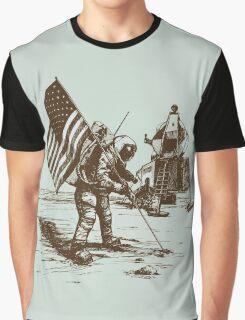 Apollo Moon Landing Vintage Space Cartoon Graphic T-Shirt