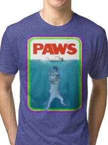 Paws Jaws Movie parody T Shirt Tri-blend T-Shirt