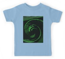 Green spiral, abstraction, visual, optical illusion Kids Tee