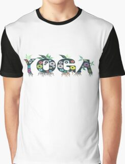Cute Inspirational and Motivational Floral Yoga Text T-Shirts and Gifts Graphic T-Shirt