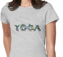 Cute Inspirational and Motivational Floral Yoga Text T-Shirts and Gifts Womens Fitted T-Shirt
